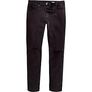 Grey ripped Sid skinny stretch jeans