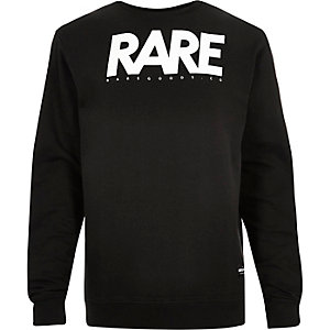 Black RAREGOODS.CO branded sweatshirt