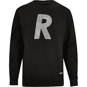 Black RAREGOODS.CO logo sweatshirt