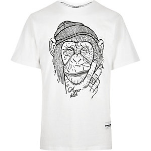 White RAREGOODS.CO monkey t-shirt