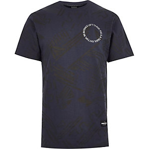 Navy RAREGOODS.CO print t-shirt