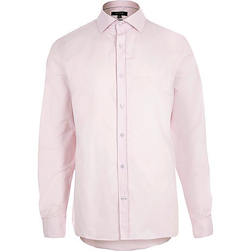 Light pink slim fit shirt