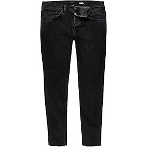 Black cropped skinny jeans