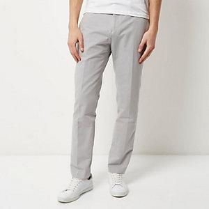 Grey smart slim elastic waist pants