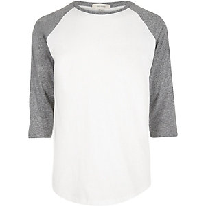 White raglan t-shirt