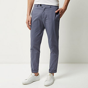 Grey cropped skinny pants