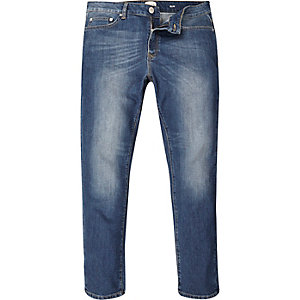 Mid blue wash Seth slim fit jeans