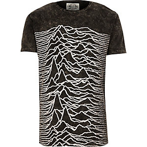 Grey Worn By Joy Division print t-shirt