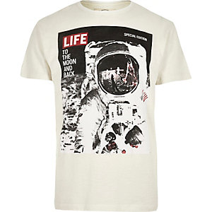 Ecru Worn By printed t-shirt