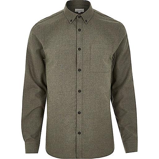 Green flannel shirt