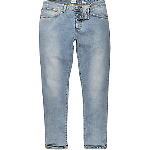 Light blue slim tapered jeans