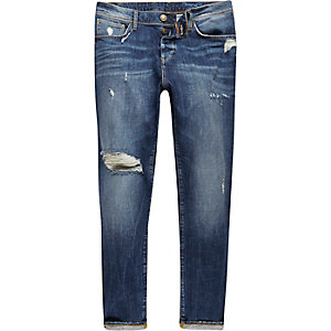 Dark blue wash Jimmy slim tapered jeans