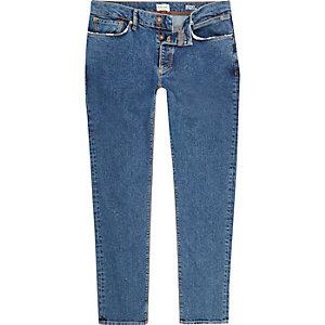 Mid blue wash Eddy skinny jeans