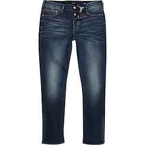 Seth – Slim Fit Jeans in dunkelblauer Waschung