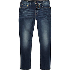 Dark blue wash Seth slim jeans