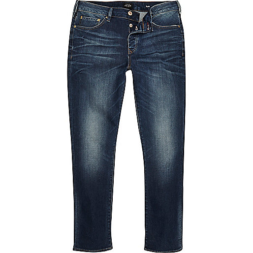 Dark blue wash Seth slim fit jeans