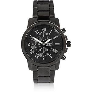 Dark grey tone Roman numeral watch