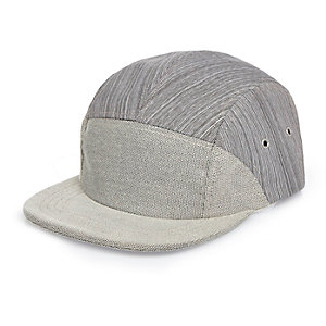 Grey textured cap