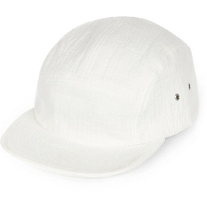 White textured cap