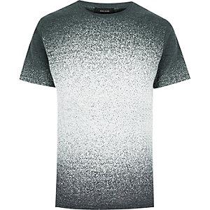 Grey faded splatter print t-shirt