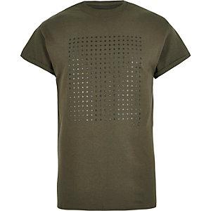 Dark green dot print t-shirt