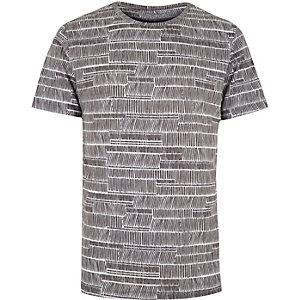 White line print t-shirt