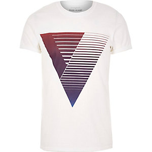 Purple triangle print t-shirt
