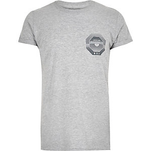 Grey Boston print t-shirt