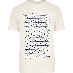 White simplicity print t-shirt
