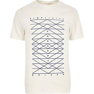 White simplicity print t-shirt