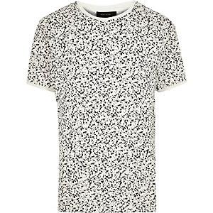 Ecru ditsy print t-shirt