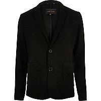 Black knit blazer