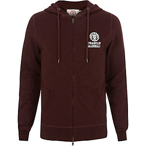 Dark red Franklin & Marshall hoodie