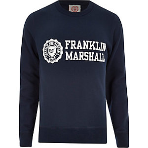 Blue Franklin & Marshall branded sweater