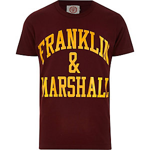 Red Franklin & Marshall branded t-shirt