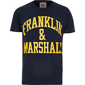 Navy Franklin & Marshall branded t-shirt
