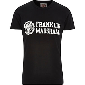 Black Franklin & Marshall branded t-shirt