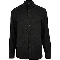 Black herringbone shirt
