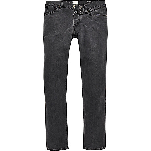 Dean - Graue Straight Jeans
