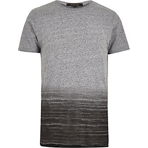 Grey faded print t-shirt