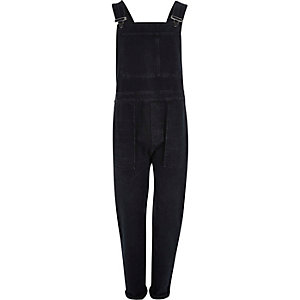 Black cuffed dungarees