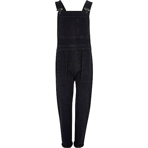 Black cuffed overalls