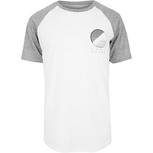 White raglan T-shirt