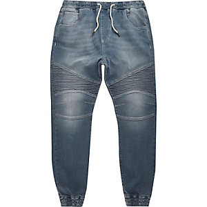 Mid blue wash Ryan biker joggers