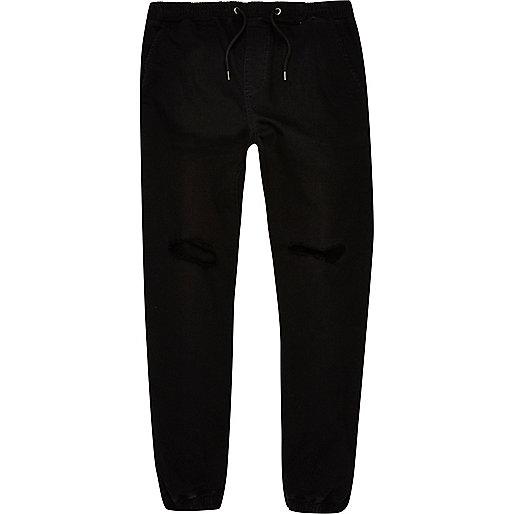 Pantalon de jogging noir usé