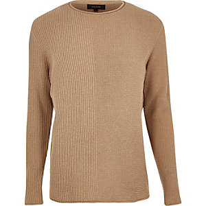Light brown knitted sweater
