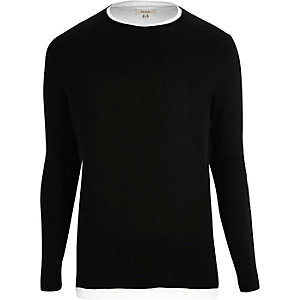 Black double layer jumper