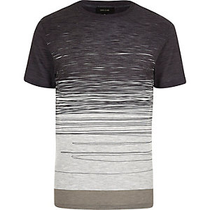 Ecru faded scribble print t-shirt