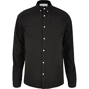 Schwarzes Oxford-Hemd
