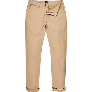 Light brown slim tapered pants